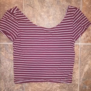 American Eagle Outfitters Tops - Striped Crop Top